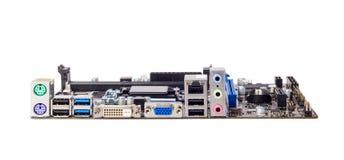 Elektroniczna kolekcja - włącznik komputerowa płyta główna Zdjęcie Stock