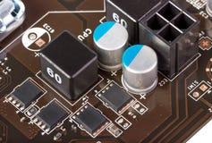 Elektroniczna kolekcja - Wielozakresowego systemu zasilania nowożytny procesor Obrazy Stock