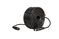 Elektroniczna kolekcja - współosiowi kable z PS2 włącznikami dla s Zdjęcie Royalty Free