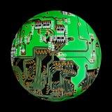 elektroniczna kula ziemska Obraz Royalty Free