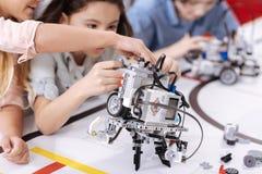 Elektroniczna robot pozycja w laboratorium Obrazy Royalty Free