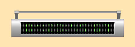 Elektroniczna tablica wyników ilustracja wektor