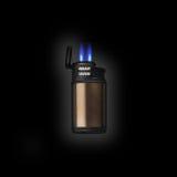 Elektroniczna zapalniczka z dwoistym dżetowym płomieniem Fotografia Stock