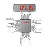 Elektroniczna zegarek twarz Fotografia Stock