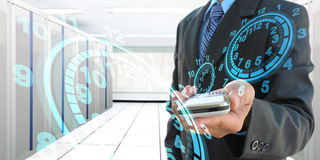 Elektronicznego notatnika pecet na białym tle Fotografia Royalty Free