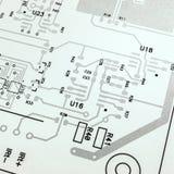 Elektronicznego obwodu deska schematyczna Zdjęcia Stock
