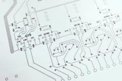 Elektronicznego obwodu deska schematyczna Obrazy Stock