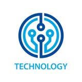 Elektronicznego obwodu deski technologii symbol Zdjęcia Royalty Free
