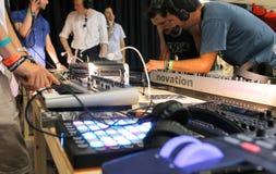 Elektronicznej muzyki przekładni synths Obraz Stock