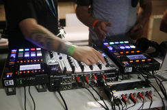 Elektronicznej muzyki przekładnia 016 Obrazy Stock