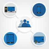 Elektroniczni equipments i ogólnospołeczni środki Obrazy Royalty Free