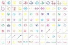 96 Elektroniczni i Elektryczni symbole v 3 royalty ilustracja