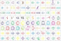 96 Elektroniczni i Elektryczni symbole v 2 royalty ilustracja
