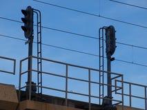 Elektroniczni sygnały Na Sztachetowej linii Obraz Royalty Free