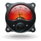 Elektroniczny analog VU sygnału metr Fotografia Stock