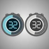 Elektroniczny Cyfrowego Stopwatch 32 sekundy royalty ilustracja
