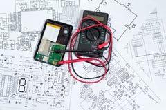 Elektroniczny i elektryczny obraz stock