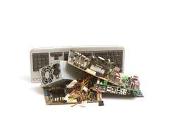 Elektroniczny i komputerowy część odpady Zdjęcia Royalty Free