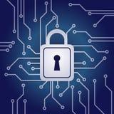 Elektroniczny kędziorek, sieci ochrony pojęcie royalty ilustracja