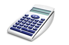 Elektroniczny kalkulator i euro konwerter Fotografia Royalty Free