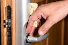 Elektroniczny klucz przy hotelem, 2018 zdjęcia royalty free