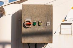 Elektroniczny kontrolny pudełko Fotografia Stock