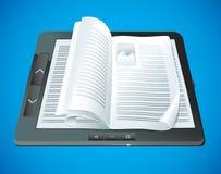 Elektroniczny książkowy pojęcie Obrazy Royalty Free