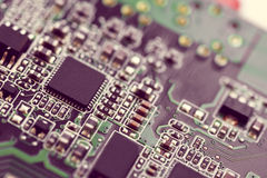 Elektroniczny mikro obwód Fotografia Stock