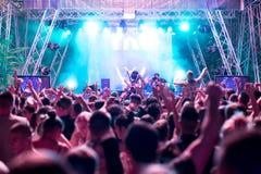 Elektroniczny muzyka taneczna festiwal fotografia stock