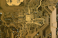 elektroniczny obwodu talerz Zdjęcie Royalty Free