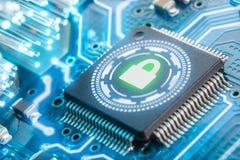 Elektroniczny ochrony pojęcie tła biel dane dysków rozsypisko odizolowywał klucz nad kłódki ochrony biel VPN zdjęcie stock