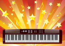 Elektroniczny pianino. Obraz Stock
