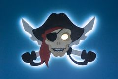 Elektroniczny piractwo Kradzież wlasność intelektualna Byczy Roger w nowożytnym stylu Miejsce dla twój teksta fotografia stock