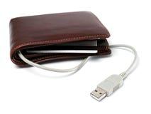 elektroniczny portfel Fotografia Stock