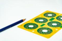 Elektroniczny produktu projekta pojęcie, drukowany obwodu board& x28; PCB& x29; inc obrazy royalty free