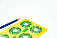 Elektroniczny produktu projekta pojęcie, drukowany obwodu board& x28; PCB& x29; inc fotografia stock