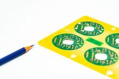 Elektroniczny produktu projekta pojęcie, drukowany obwodu board& x28; PCB& x29; inc zdjęcia stock