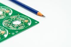 Elektroniczny produktu projekta pojęcie, drukowany obwodu board& x28; PCB& x29; inc obraz royalty free