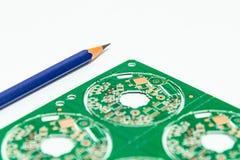 Elektroniczny produktu projekta pojęcie, drukowany obwodu board& x28; PCB& x29; inc fotografia royalty free
