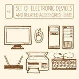 elektroniczny przyrządu set Zdjęcie Royalty Free