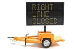 Elektroniczny ruchu drogowego znak Obrazy Royalty Free