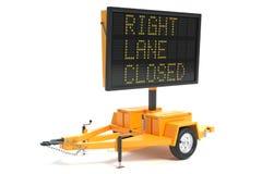 Elektroniczny ruchu drogowego znak Zdjęcia Stock