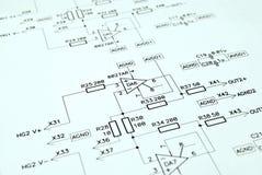 elektroniczny schematic Obrazy Stock