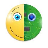 Elektroniczny smiley Zdjęcie Stock