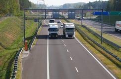 Elektroniczny system ruchu drogowego nadzór i opłaty drogowej kolekcja Cześć zdjęcia royalty free