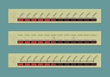 Elektroniczny trasa pokaz ilustracja wektor