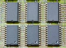 elektroniczny układ scalony deskowy obwód Fotografia Stock