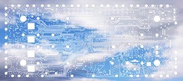 Elektroniczny wbity systemu projekta procesu PCB układu numeru banku ove Zdjęcie Royalty Free
