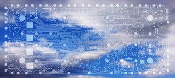 Elektroniczny wbity systemu projekta procesu PCB układu numeru banku ove Fotografia Royalty Free