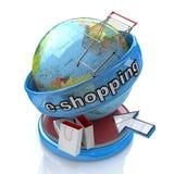 Elektroniczny zakupy ilustracja wektor